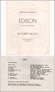 Edison : 4 Acts of a Work-In-Progress