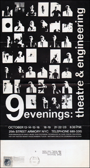 9 Evenings : Theatre and Engineering,  Flyer / Ticket Order Form