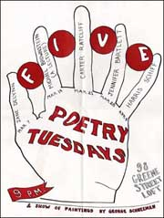 Five Poetry Tuesdays & Show of Paintings by George Schneeman