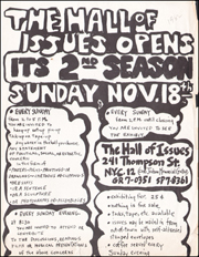 The Hall of Issues Opens Second Season