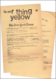 Do Your Thing in Yellow / The People of New York -- AGAINST -- The New York Times