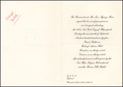 Invitation to Banquet Celebrating 1974 New York Day of Hope