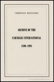 Archive of the Carnegie International 1896 - 1991