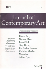 Journal of Contemporary Art : Interviews & Projects