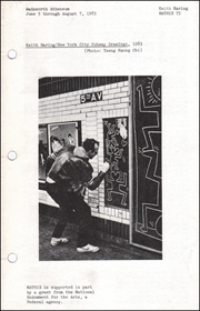 Keith Haring / New York City Subway Drawings, 1983 : MATRIX 75