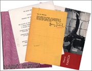 Group of Four Pieces of Harry Partsch Ephemera