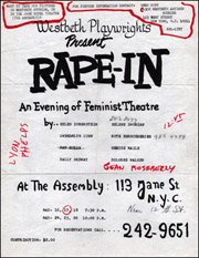 Westbeth Playwrights Present RAPE-IN : An Evening of Feminist Theatre