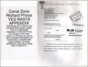 Canal Zone Richard Prince YES RASTA Appendix / Complaint and Demand for Jury Trial Documents