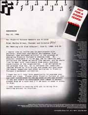 Franklin Furnace Memorandum from Martha Wilson, Re: Meeting with Siah Armajani