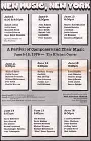 New Music, New York : A Festival of Composers and Their Music