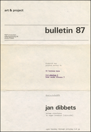 Bulletin 87 : Autumn Structures / to Edgar Fernhout (1912 - 1974)