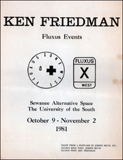 Ken Friedman : Fluxus Events