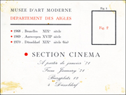 Musee d'Art Moderne / Department des Aigles / Section Cinema