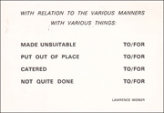 WITH RELATION TO THE VARIOUS MANNERS / WITH VARIOUS THINGS...