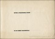 Flash Art Special Issue on Lawrence Weiner : Within a Reasonable Doubt