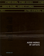 Other Rooms, Other Voices / Andere Räume, Andere Stimmen : Audio Works by Artists