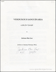 Verdurous Sanguinaria : A Play for 4 People