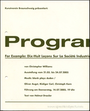 Christopher Williams : Program