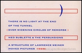 There Is No Light at the End of the Tunnel (Ever Widening Circles of Remorse)