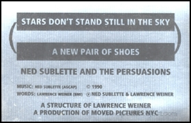 Stars Don't Stand Still In the Sky / A New Pair of Shoes